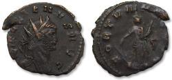Ancient Coins - AE 22mm antoninianus Gallienus, Rome 253-268 A.D. - very sharp portrait-