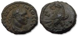 Ancient Coins - Billon Tetradrachm Claudius II Gothicus, Egypt, Alexandria, dated RY 3 (AD 270) - Eagle standing right, head turned left