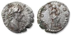 Ancient Coins - AR denarius Antoninus Pius. Rome 156-157 A.D. - TR POT XX - COS IIII, Annona standing right -