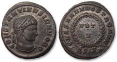 Ancient Coins - AE follis Constantine II as Caesar, Siscia mint 320-321 A.D. - BSIS, near mintstate -
