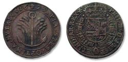 World Coins - Spanish Netherlands AE jeton Brussels mint 1629: on the Spanish confidence (under Philip IIII)