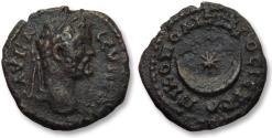 Ancient Coins - AE 18 (assarion) Septimius Severus, Moesia Inferior - Nikopolis ad Istrum 193-211 A.D --moon & star--