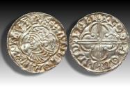 World Coins - Quatrefoil type AR penny Cnut the Great - LONDON mint 1017-1023 A.D. - moneyer GODA