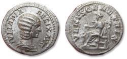 Ancient Coins - AR denarius Julia Domna,  Rome mint 211-217 A.D. - VENVS GENETRIX, variety with little Cupid on reverse -