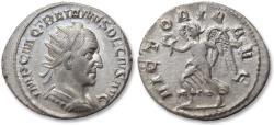 Ancient Coins - AR antoninianus Trajan Decius. Rome mint 249-251 A.D. - VICTORIA AVG, near mint state -