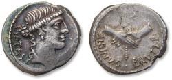 AR Denarius D. Iunius Albinus Bruti f., Rome 48 B.C.