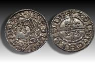 World Coins - Trefoil quadrilateral type AR penny Edward the Confessor - LONDON mint 1046-1048 AD - moneyer GOLSI