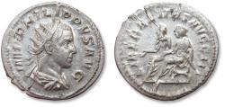 Ancient Coins - AR antoninianus Philip II, son of Philip I, as co-emperor Rome mint 247-249 A.D. - LIBERALITAS AVGG III