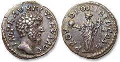 Ancient Coins - AR denarius Lucius Verus. Rome 161-162 A.D. - high quality coin, wonderful toning -