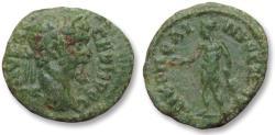 Ancient Coins - AE 17 (assarion) Septimius Severus, - Nikopolis ad Istrum 193-211 A.D. -- Apollo --