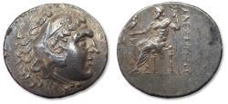 Ancient Coins - Kingdom of Macedon. AR Tetradrachm, Alexander III 'the Great', Aspendos mint 201-200 B.C. - Beauty -