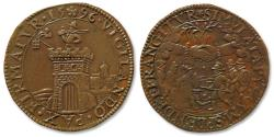 World Coins - AE jeton 1596 Spanish Netherlands: vigilance with truce & desire for peace