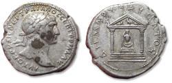 Ancient Coins - Large 25 mm AR tridrachm Trajan / Trajanus. CAPPADOCIA, Caesaraea-Eusebia 112-117 A.D. - temple with statue of Diana -