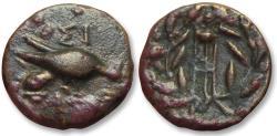 Ancient Coins - AE trichalkon Sikyonia, Sikyon 196-146 B.C. -- Ex Jean Elsen --
