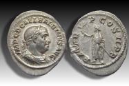 Ancient Coins - AR Denarius, Balbinus. Rome 238 A.D. - rare coin in superb condition & beautiful toning -