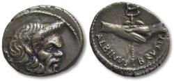 Ancient Coins - AR denarius C. Vibius Pansa and D. Iunius Brutus Albinus, Rome 48 B.C.