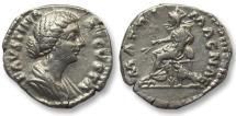 Ancient Coins - AR denarius Faustina II Junior, Rome 180 A.D. -- MATRI MAGNAE reverse --