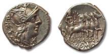 Ancient Coins - AR denarius Q. Caecilius Metellus, Rome 130 B.C.