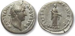 Ancient Coins - AR denarius Hadrian / Hadrianus, Rome 132-134 A.D. - Liberalitas with cornucopiae -