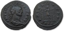 Ancient Coins - AE24 antoninianus Probus, Rome mint 277 A.D. -- Emperor between standards --