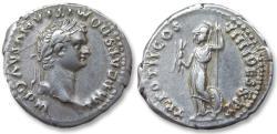 AR denarius Domitian / Domitianus, Rome 83 A.D. - very rare issue, TR POT II COS VIIII DES X P P -