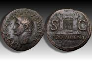 Ancient Coins - AE 30mm As Divus Augustus, struck under Tiberius, Rome mint 22-23 A.D.