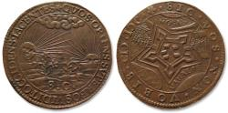 World Coins - AE jeton 1600 Spanish Netherlands: fort St. Andries taken by Maurice of Orange, Spanish retreat