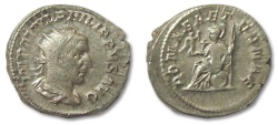 Ancient Coins - HS: AR antoninianus Philip I the Arab, Rome 244-249 A.D. --ROMA AETERNAE--