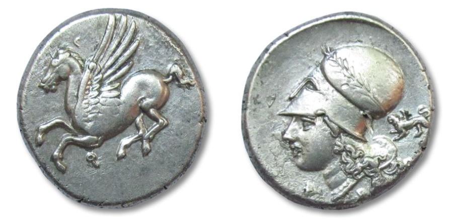 Ancient Coins - AR stater Corinthia, Corinth, 345-307 B.C.