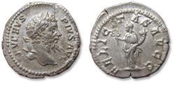 Ancient Coins - AR denarius Septimus / Septimius Severus. Rome mint 202-210 A.D. - FELICITAS AVGG -