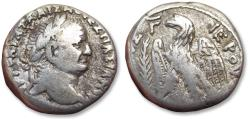 Ancient Coins - AR tetradrachm Vespasian / Vespasianus, Antiochia ad Orontem mint dated Year 3 (= 70/71 A.D.) - eagle left -