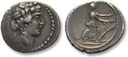 Ancient Coins - AR denarius C. Vibius C. f. C. n. Pansa Caetronianus, Rome 48 B.C.