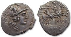 Ancient Coins - AR Denarius, L. Iulius, Rome 141 B.C. - quality coin -