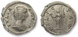 Ancient Coins - AR denarius Julia Domna, Rome 196-211 A.D. -- FELICITAS --
