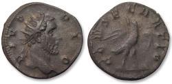 Ancient Coins - AR antoninianus, struck under Trajan Decius for DIVUS ANTONINUS, Rome mint 250-251 A.D. - DIVO PIO, scarce/rare coin -