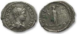 Ancient Coins - AR denarius Geta as Caesar, Rome 200-202 A.D. -- NOBILITAS --