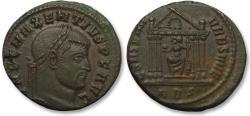 Ancient Coins - AE 25mm follis Maxentius, ROME mint 308-312 A.D. -- beautiful sharp strike --