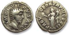Ancient Coins - AR denarius Lucius Verus, Rome 163 A.D.