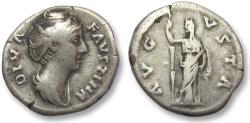 Ancient Coins - AR denarius Faustina Senior, after 141 A.D. -- AVGVSTA, Ceres reverse --