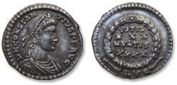 Ancient Coins - AR Siliqua, Constantius II. Lugdunum (Lyon) mint circa 353-361 A.D. - LVG in exergue, officially recorded detector find -