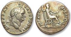 Ancient Coins - AR denarius Vespasianus / Vespasian, Rome 73 A.D. -- colorful toning --