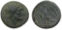 Ancient Coins - Bruttium, the Bretti. AE unit, 216-214 B.C. - beautiful eagle reverse + cornucopiae symbol -