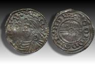 World Coins - Short cross type AR penny Cnut the Great - LONDON mint 1029-1035 A.D. - moneyer GODGOD - scarce spelling