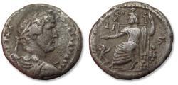 Ancient Coins - BI billon tetradrachm emperor Hadrian / Hadrianus, Egypt, Alexandria mint dated RY 10 = 125-126 A.D.