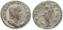 Ancient Coins - AR antoninianus Herennia Etruscilla, Rome 250 A.D. -- IVNO REGINA --