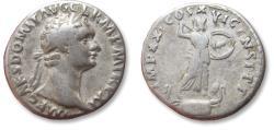 Ancient Coins - AR denarius Domitian / Domitianus, Rome mint 92 A.D. - IMP XXI COS XVI CENS P P P -