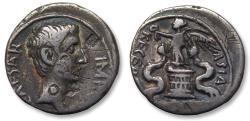Ancient Coins - AR quinarius Octavian, 29-27 B.C. -- attractive little coin --