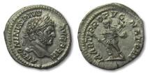 Ancient Coins - AR denarius Caracalla, Rome 210-213 A.D. -- with BRITTANICVS title --