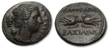 Ancient Coins - AE 23 Agathokles Sicily, Syracuse 317-289 B.C.