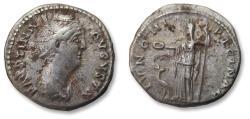Ancient Coins - AR denarius Faustina Senior, Rome mint 139-141 A.D. - IVNONI REGINAE -